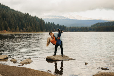 EMILY VANDEHEY PHOTOGRAPHY -- Arun + Erin -- Engagement -- Trillium Lake -- Previews-7