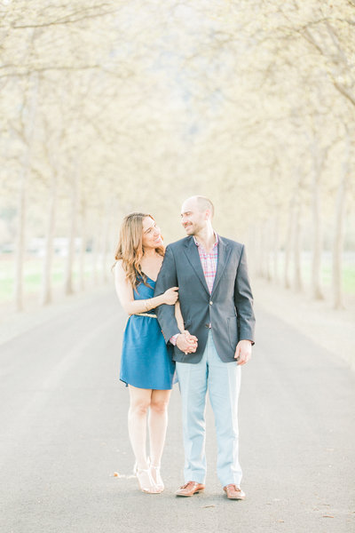 Beaulieu Gardens engagement photo, Rutherford wine country wedding Napa vineyard location, fine art wedding photographers, Evonne and Darren