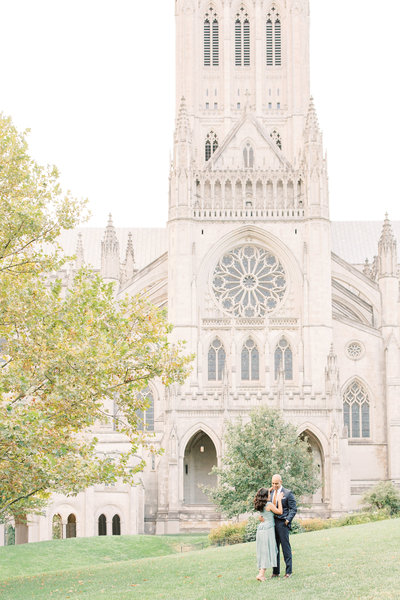 National Cathedral DC Engagement Portraits