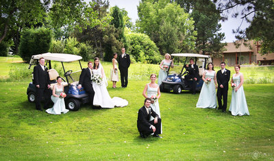 Columbine-Country-Club-Wedding-Party-Portrait-on-the-Golf-Course-Littleton-Colorado