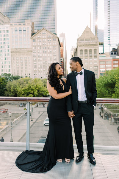 Downtown Chicago Engagement Photo