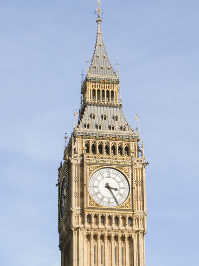The clock of Big Ben in London, England.