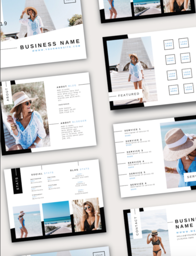 Media Kit Template but Amy Tribble of Just Like White Creative