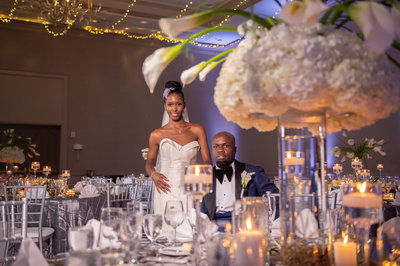 Modern white wedding at chateau elan winery
