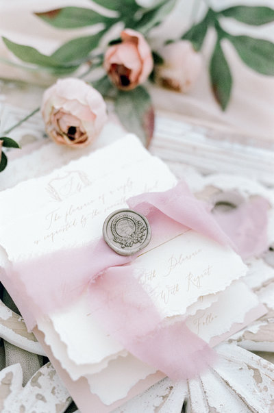 cotton paper wedding invitation