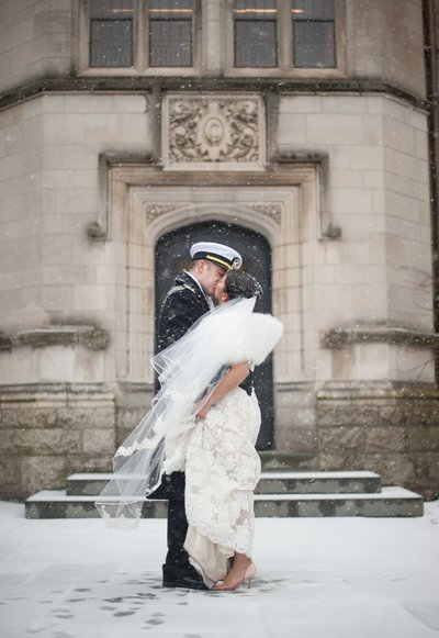Winter wedding at Yale University