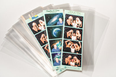 Photo booth plastic sleeves