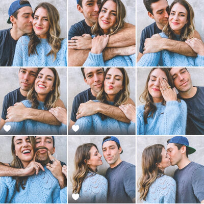collage of man and woman laughing and smiling