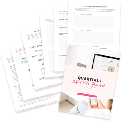 quarterly business planner