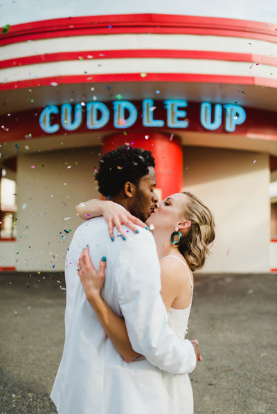 Bold and Colorful Glen Echo Park Elopement Photographer