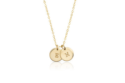 Two Initials Disk Necklace