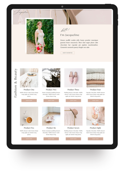 Showit Website Template- Jacqueline | Viva la Violet