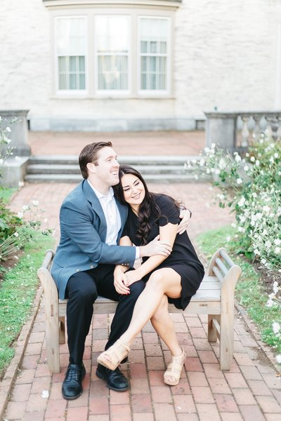 George Eastman House engagement session in Rochester, NY