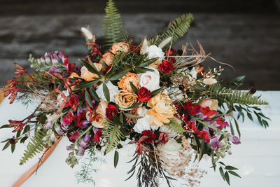 Maine Winter  Wedding in the Woods