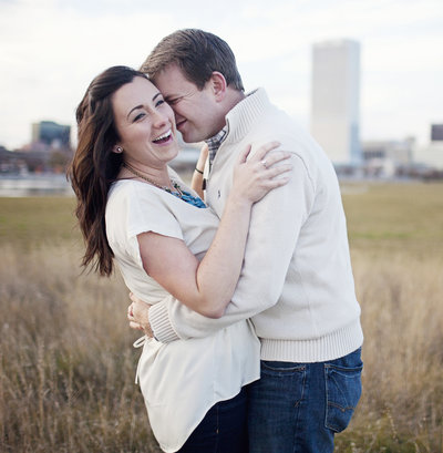 engaged couple  in love Milwaukee wedding photographer