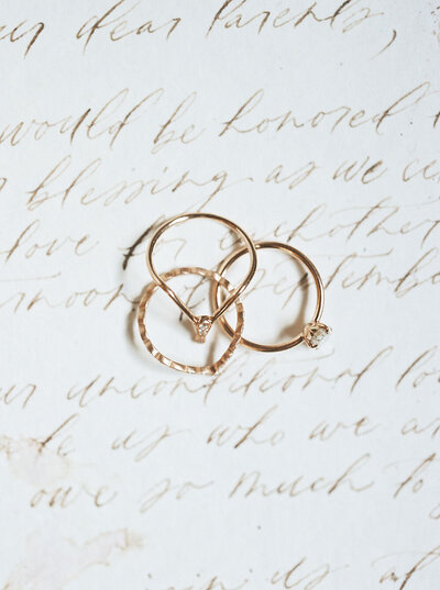 Minimalist stacker engagement rings from Sofia Kaman