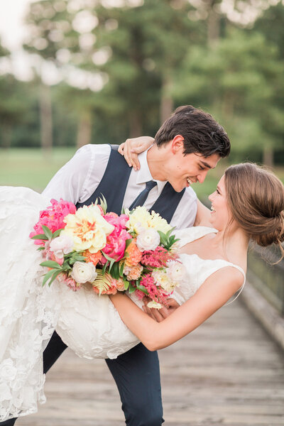 Fun Married Couple at The Woodlands Country Club