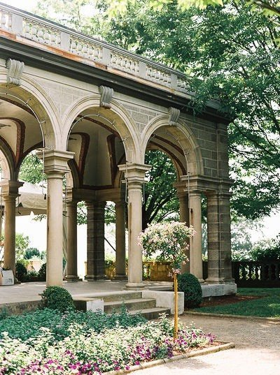 arches of wedding venue