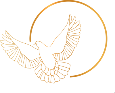 Circle dove gold dark