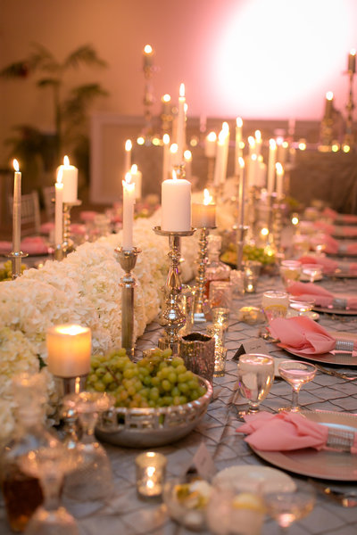 Luxury wedding floral feasting table