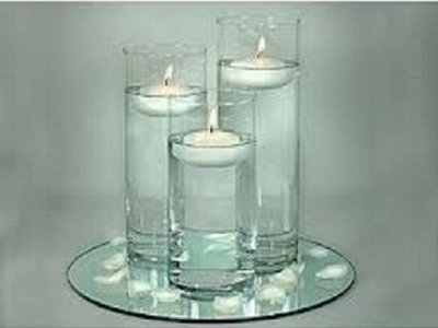 floating candle centrepeice