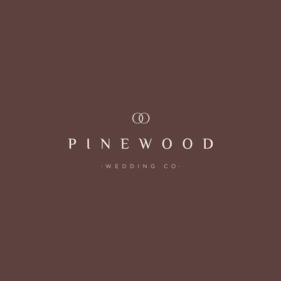Pinewood Wedding Co. is a high end wedding planner. Branding by Rhema Design Co.