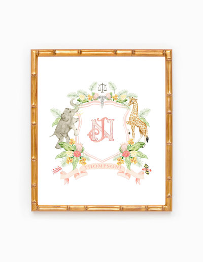 Watercolor-Wedding-Crest-Frame-Bridge-2-The-Welcoming-District