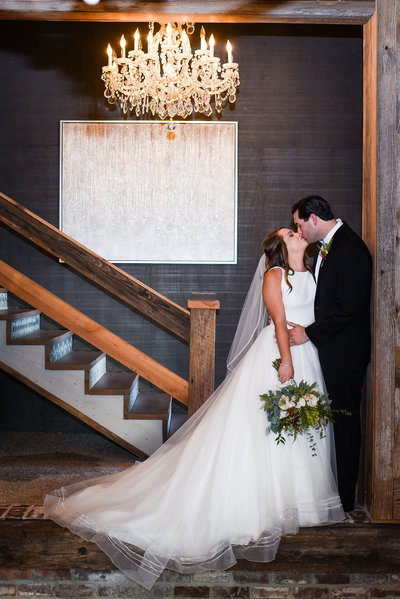 Bride and Groom at Greengates Farmhouse, Laurel Mississippi, Mississippi Wedding