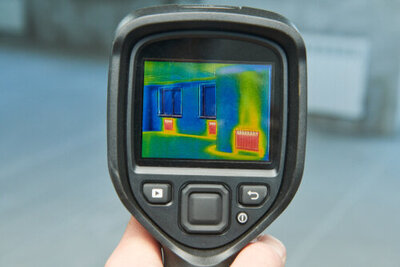 Infrared camera tool that detects mold and water damage.