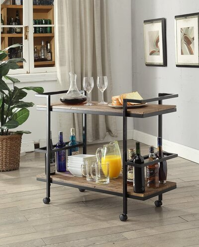 Vintage-Inspired Bar Cart