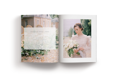 The Kate Collective wedding magazine template for photographers mockup