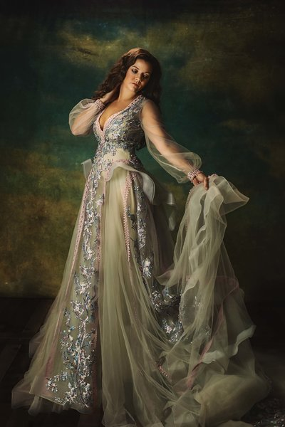 Woman-Opal Gown-Fine Art-Dallas
