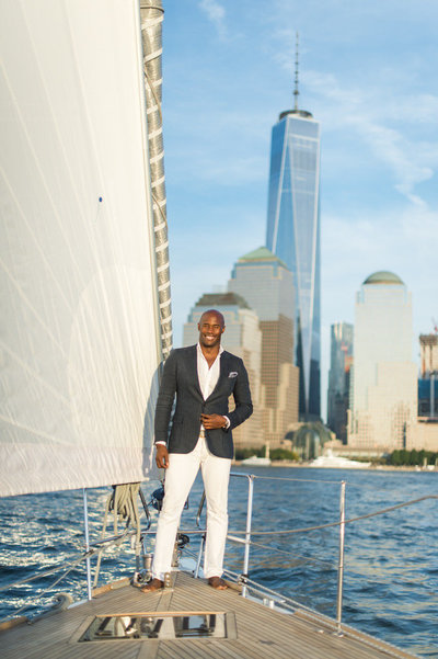 sailing on the hudson in nyc with chris collins