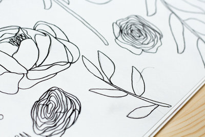 bouquet surface design drawing 3