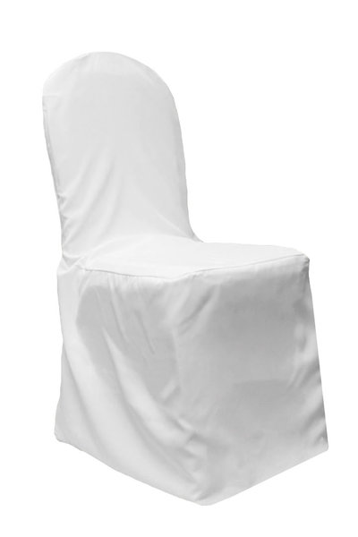 PolyBanquetChairCover-White