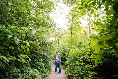 minnehaha falls engagement session danielle lund photography