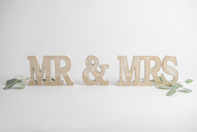 Mr and Mrs Sign Rental