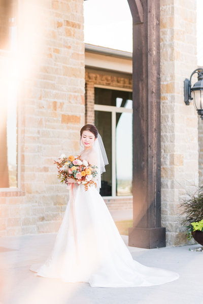Dove Ridge Vineyard Bridal Portrait 1