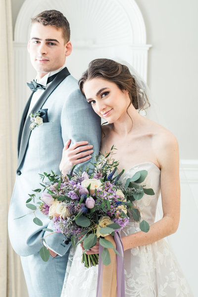 The Commons 1854 Bridal Styled Shoot Bride and Groom