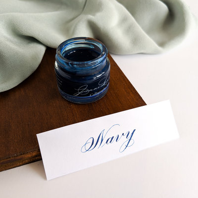 Navy calligraphy ink