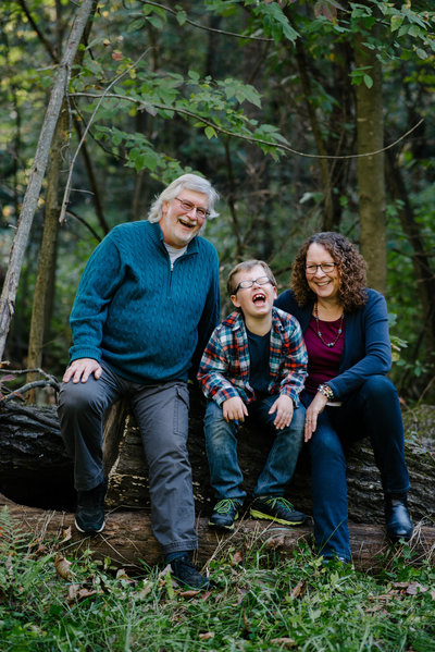 grandparents and grandson laughing