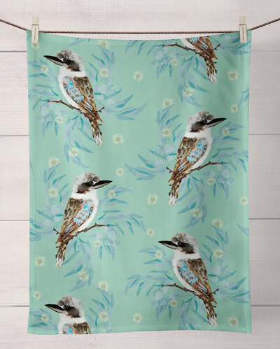 kookaburra-tea-towel