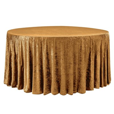 Velvet-Round-Tablecloth-Mustard-Gold-Yellow