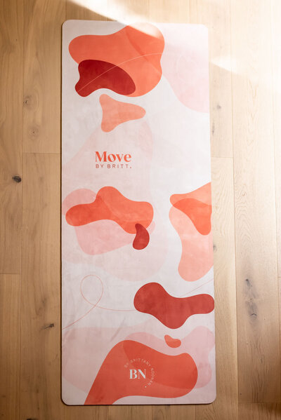 Peach yoga mat