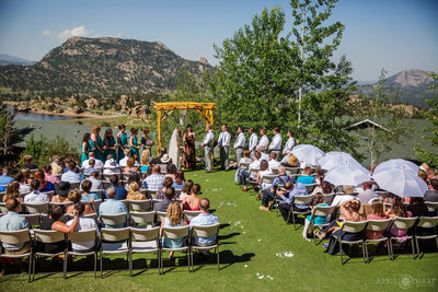 Sunny-Outdoor-Wedding-Ceremony-in-Estes-Park-Colorado-Mary's-Lake-Lodge