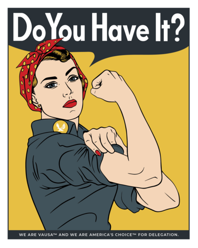 Rosie the Riveter illustration.