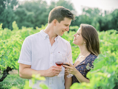 vineyard engagement session - epic engagement photography