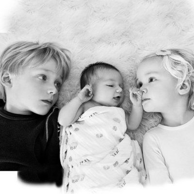 Baby and Siblings Family Photography