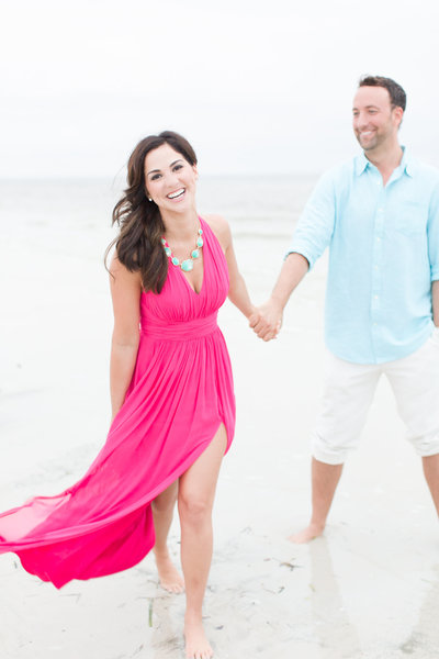 Blush Beach Destination Engagement Session Fort Myers, Florida | Amy & Jordan Photography