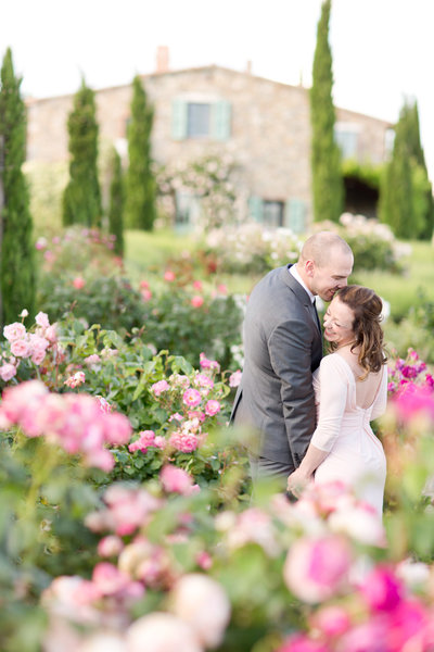 Floral Engagement Session in Tuscany, Italy | Amy & Jordan Photography